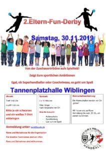 Eltern Fun Derby @ Tannenplatzhalle Wiblingen