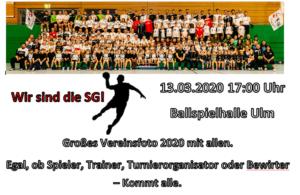 abgesagt Großes Vereinsfoto der SG Ulm & Wiblingen @ Ballspielhalle am Westbad Ulm