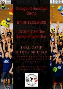 Handballcamp der D-Jugend im Sommer @ Ballspielhalle Ulm