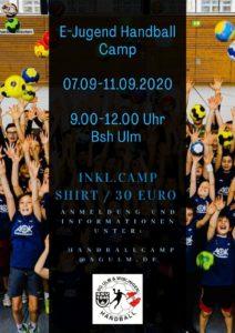 HandballCamp der E-Jugend im Sommer @ Ballspielhalle Ulm